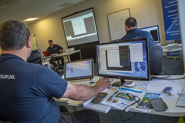 Hydrographic multi beam training