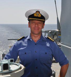 Commander Jon Holmes at sea-2012